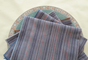 organic cotton, calico, sturdy, everyday use table napkins, saves money, multi-coloured, co-ordinates with most decor
