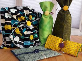 Fair trade Organic cotton cloth fabric gift wrapper bags