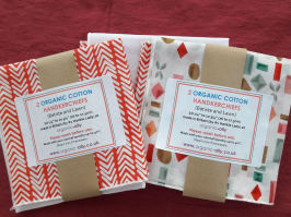 organic cotton floral batiste hankies Gift Pack