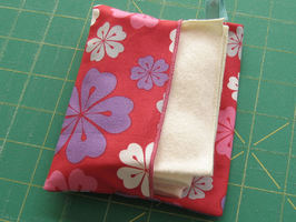 Pocket Pouch Gift Pack three mini organic cotton flannel hankies