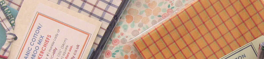 Bamboo Blend organic cotton gift hankies in different sizes
