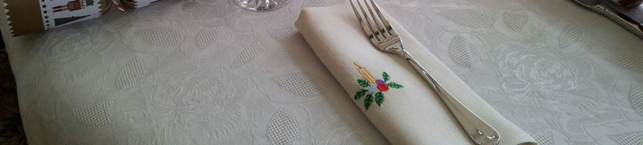 embroidered hemp table napkin, exclusive design